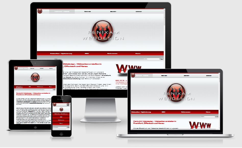 FenixAM Webdesign individuelles Design in Frankfurt und Offenbach am Main