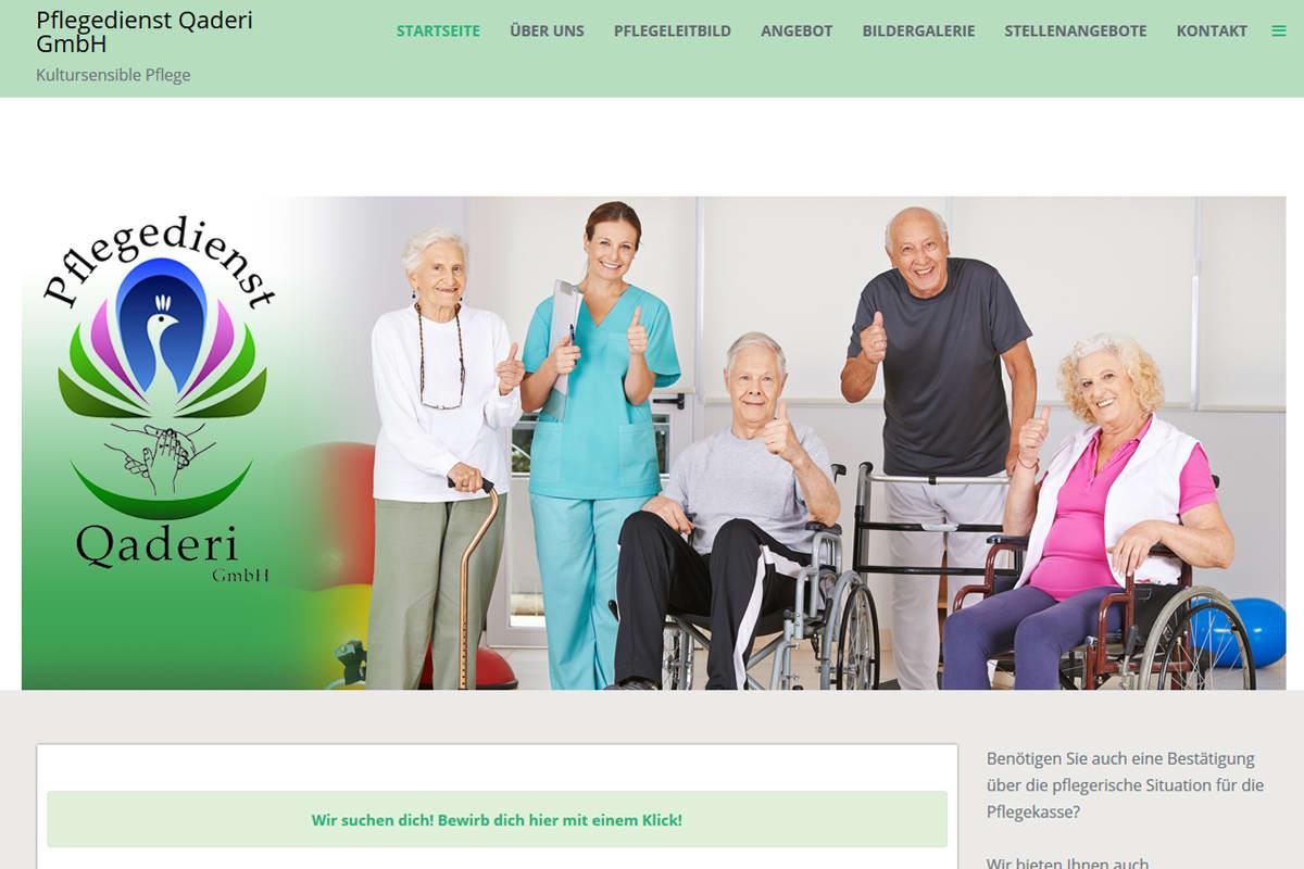 Pflegedienst Qaderi Projekt von FenixAM Webdesign
