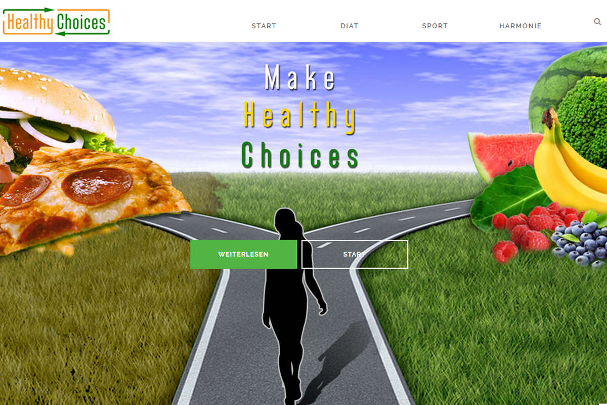 Healthy Choices - Projekt von FenixAM Webdesign