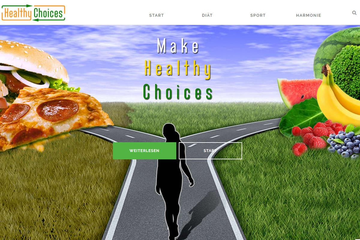 Healthy Choices - Projekt von FenixAM Webdesign